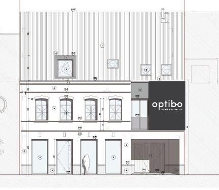 Voorgevel optiekzaak Optibo